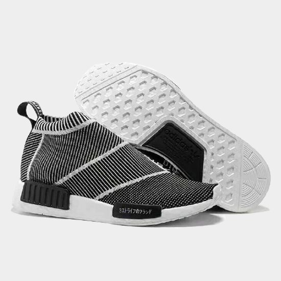 Фото Adidas NMD Primeknit City Sock бело-черные - 2