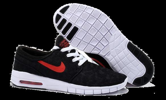 Фото Nike Stefan Janoski Max Черные с Красным - 1